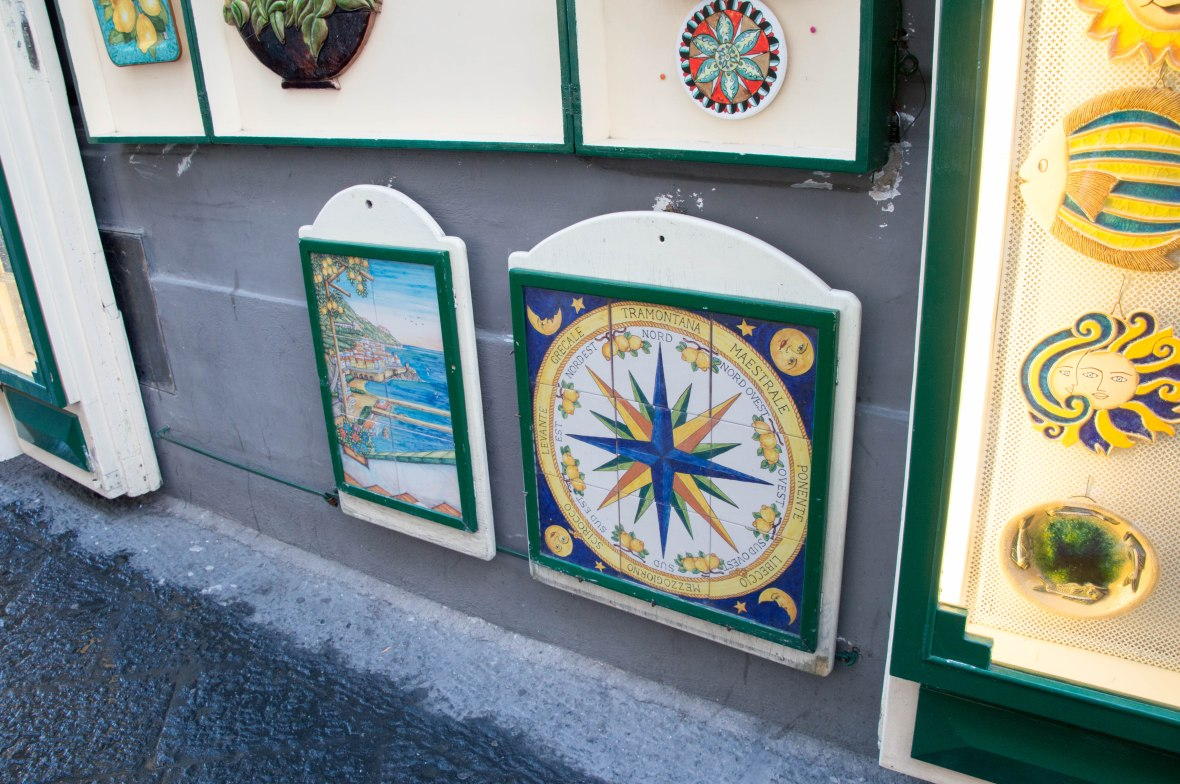 Tiles For Sale, Amalfi, Italy