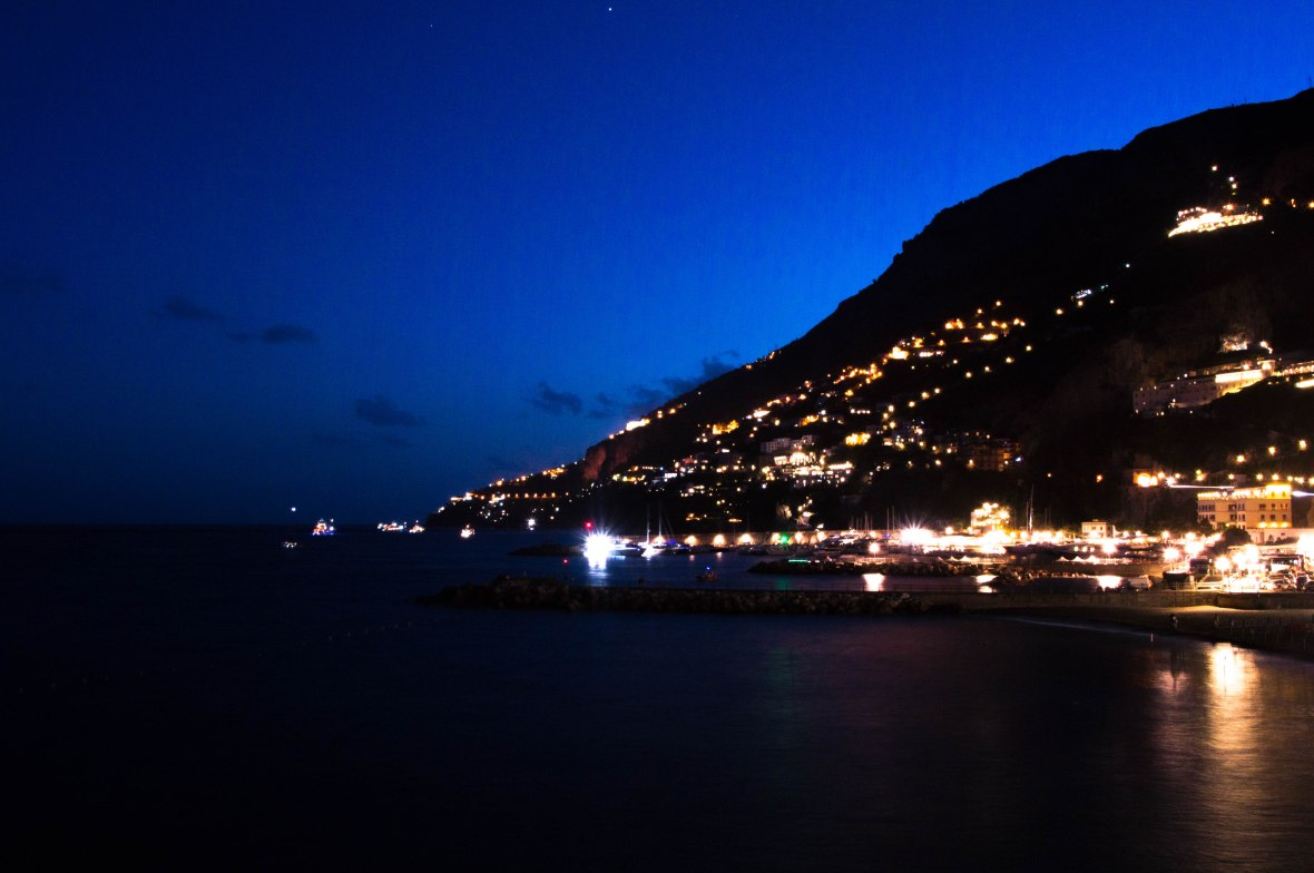 View Of Amalfi At Night, Italy