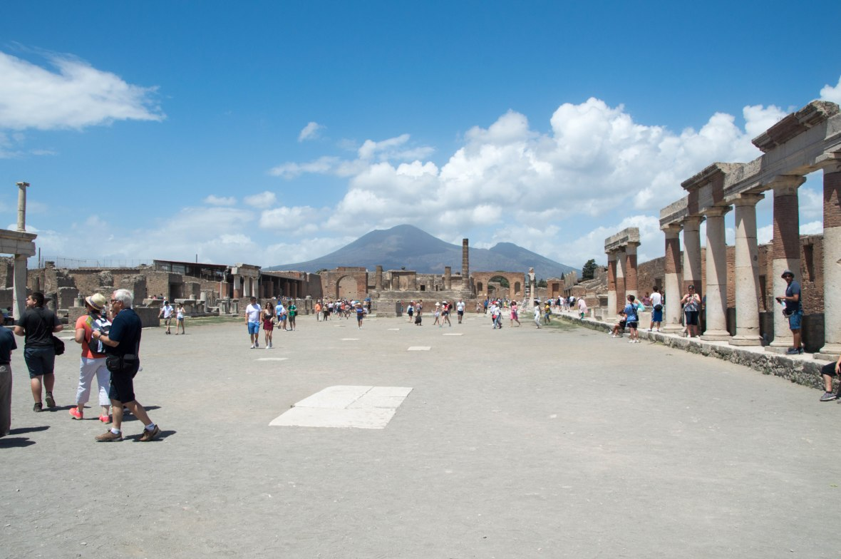 View of Mt Vesuvius From Pompeii, Italy