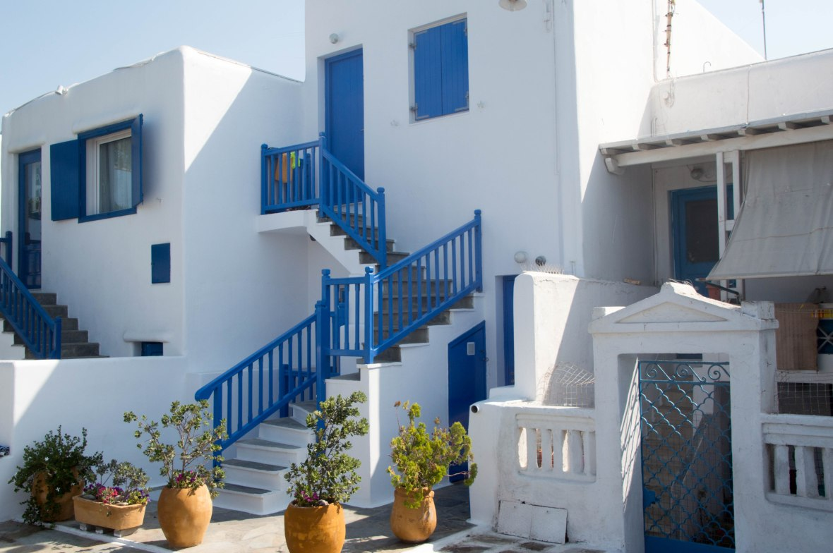 Blue & White House, Mykonos, Greece