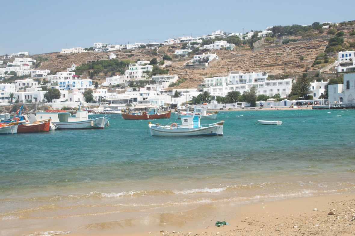 Boats At The Port, Mykonos, Greece