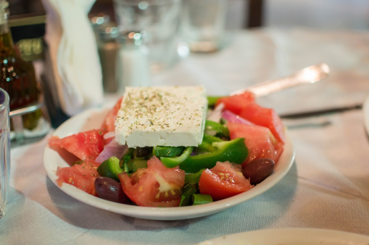 Greek Salad, Joanna's Nikos Place, Mykonos, Greece