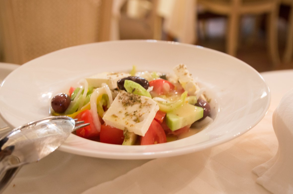 Greek Salad, Katrin, Mykonos, Greece