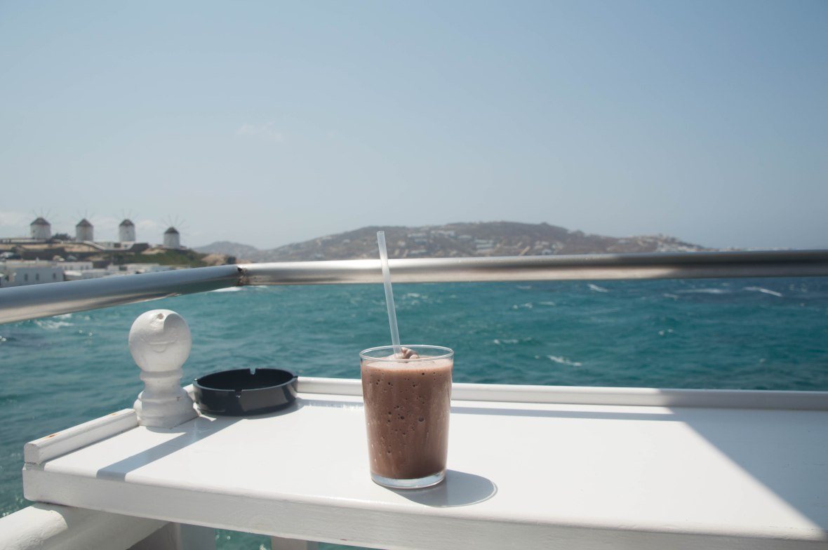 Iced Hot Chocolate, Mykonos, Greece