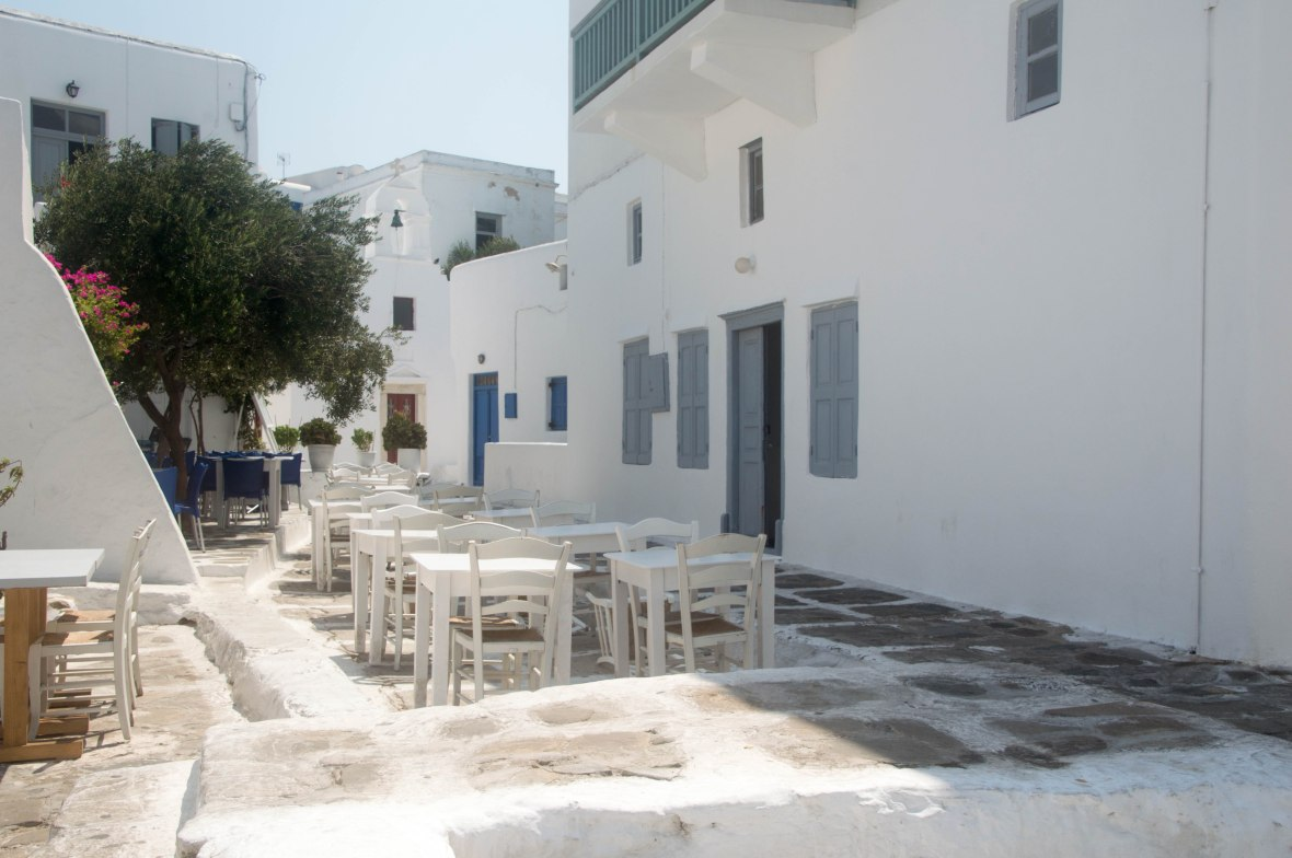 Outdoor Seating, Restaurant, Mykonos, Greece