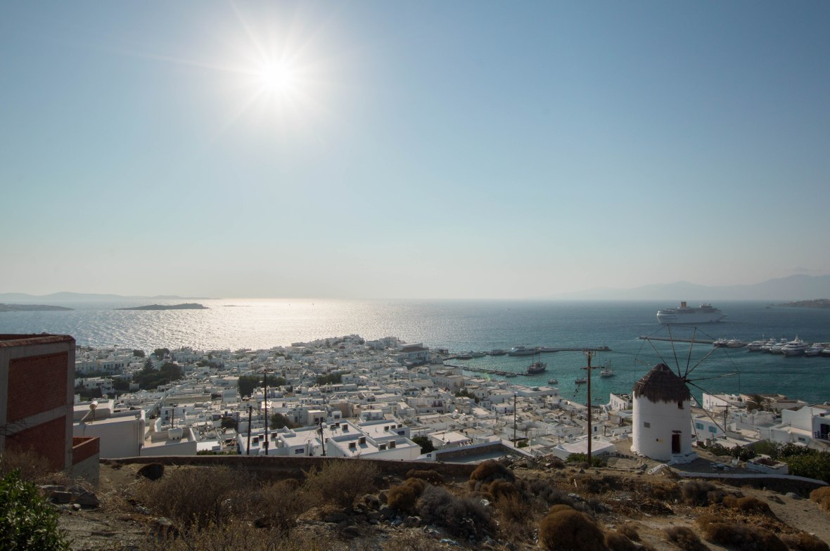 View Over Mykonos Town, Greece