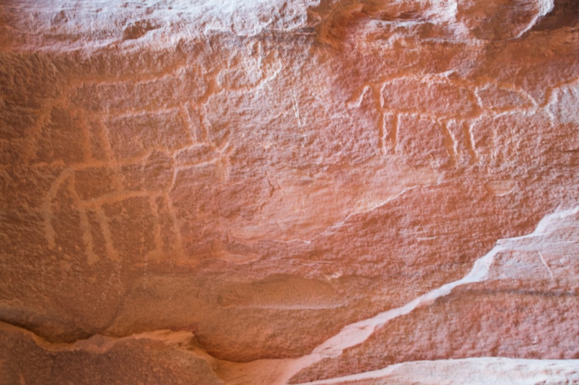 Ancient Inscriptions, Khazali Canyon, Wadi Rum Desert, Jordan
