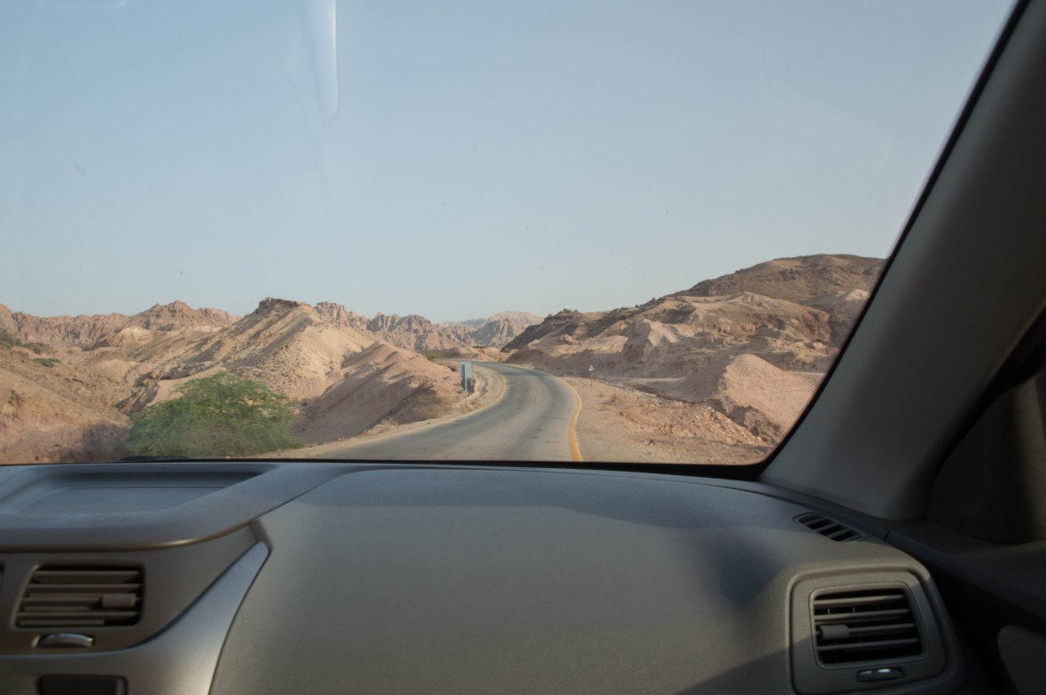 Driving Down Jordan Valley Highway, Jordan