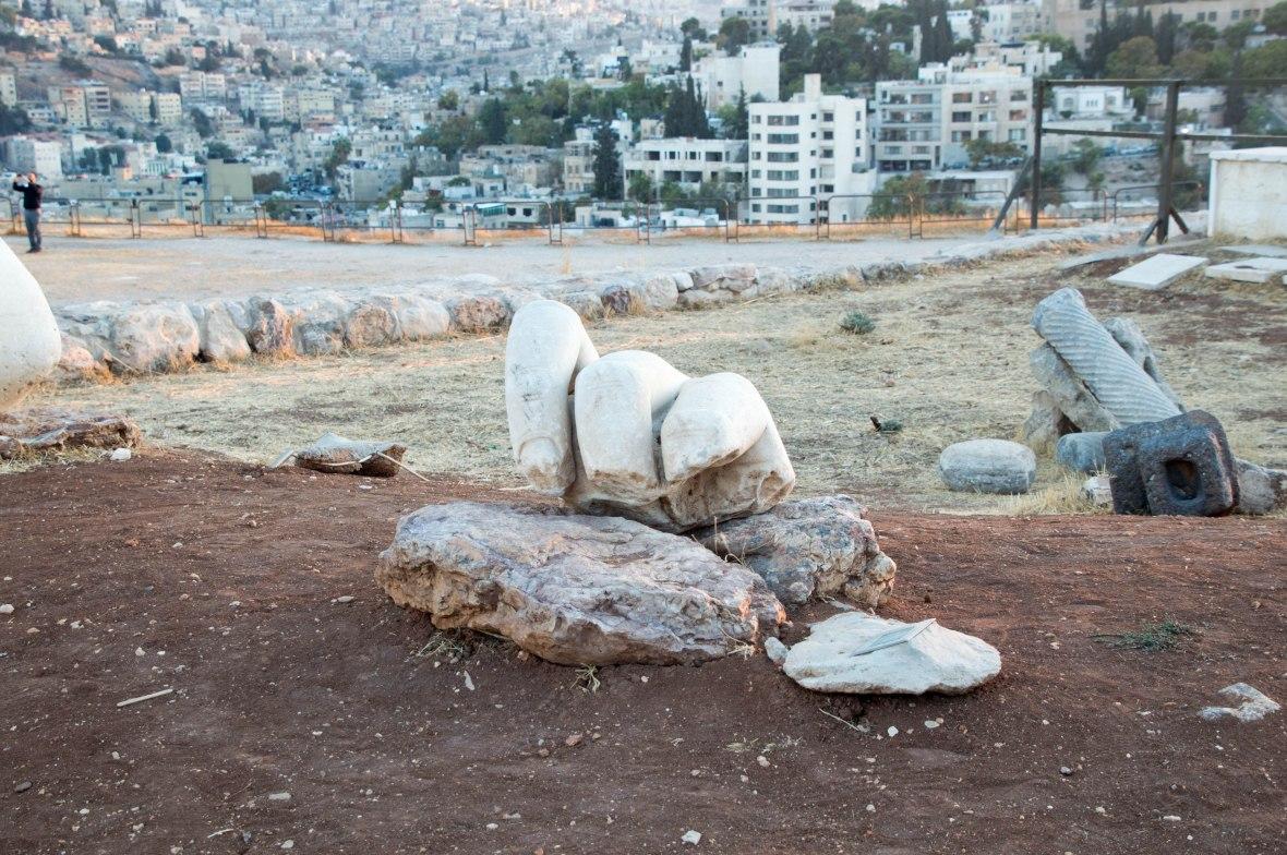 Hand From A Roman Statue, Citadel, Amman, Jordan