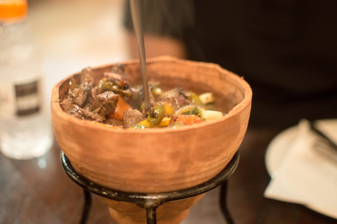 Lamb And Vegetables In A Clay Pot, Jafra Cafe, Amman, Jordan