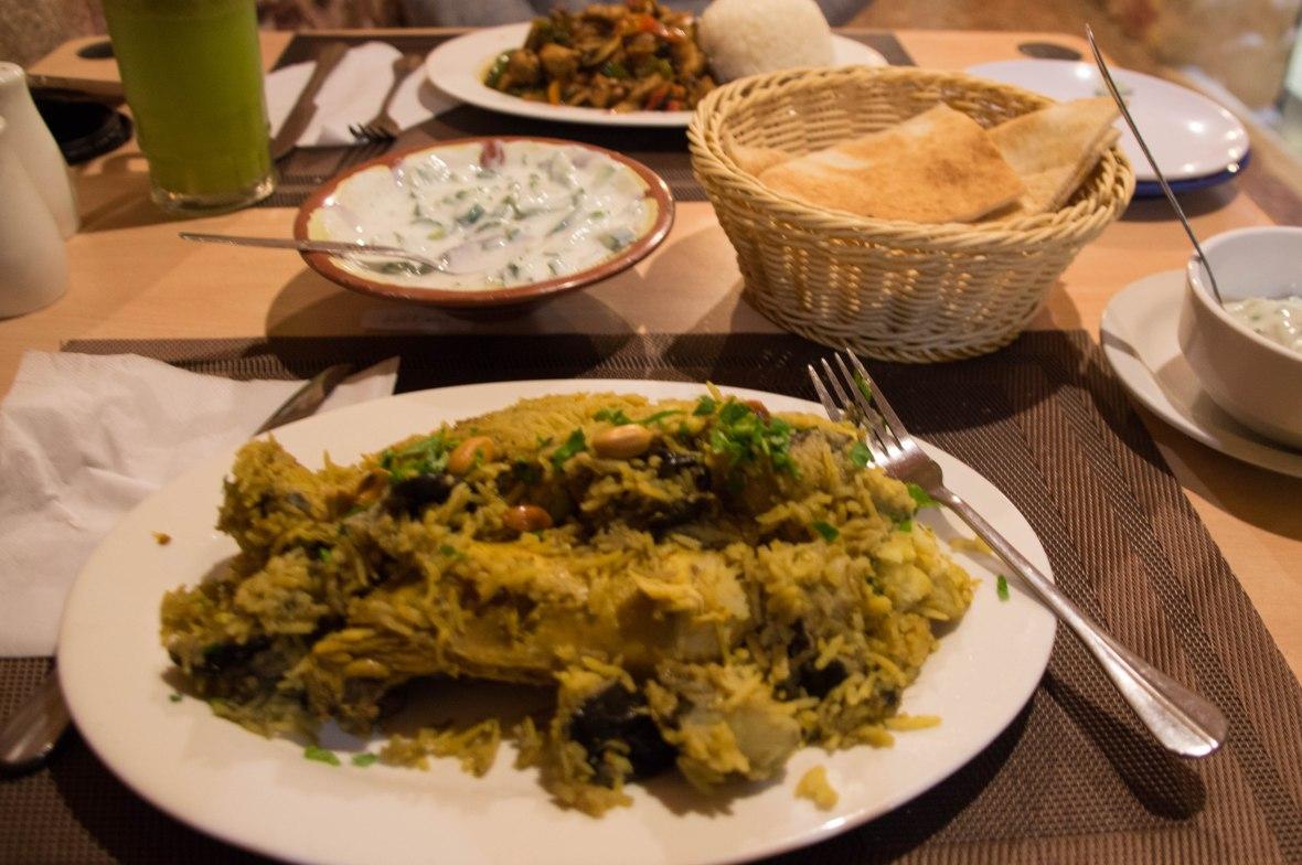 Mansaf, Red Cave Restaurant, Petra, Jordan