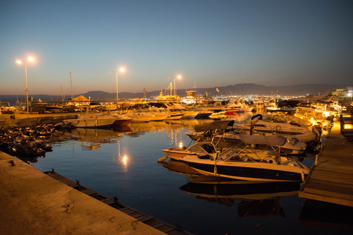 Marina At Night, Aqaba, Jordan