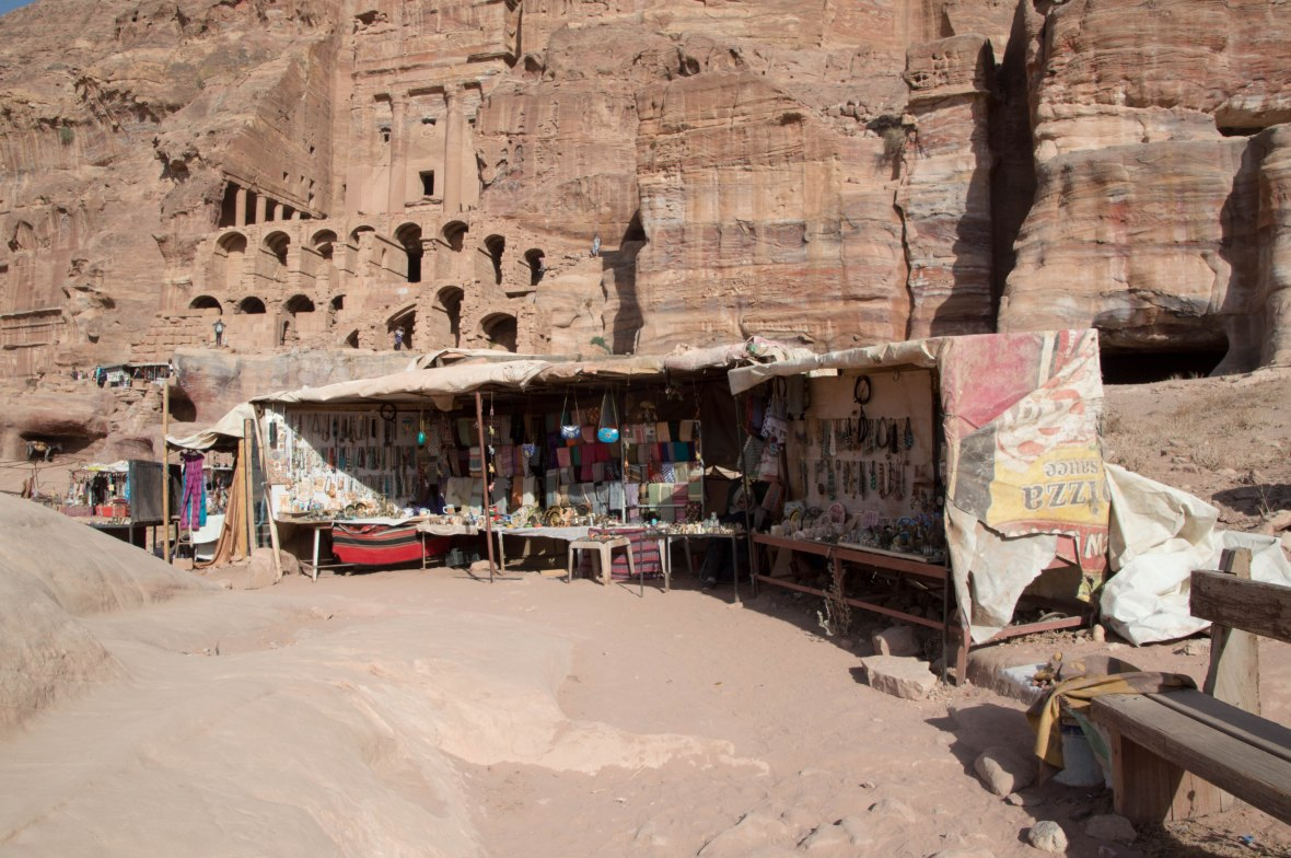 Market Stalls Outside The Royal Tombs, Petra, Jordan