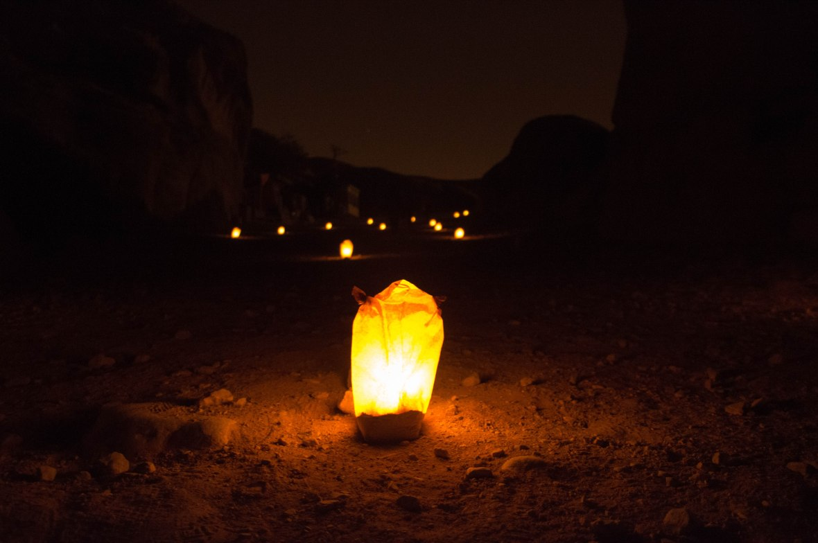 Paper Lantern, Petra By Night, Jordan