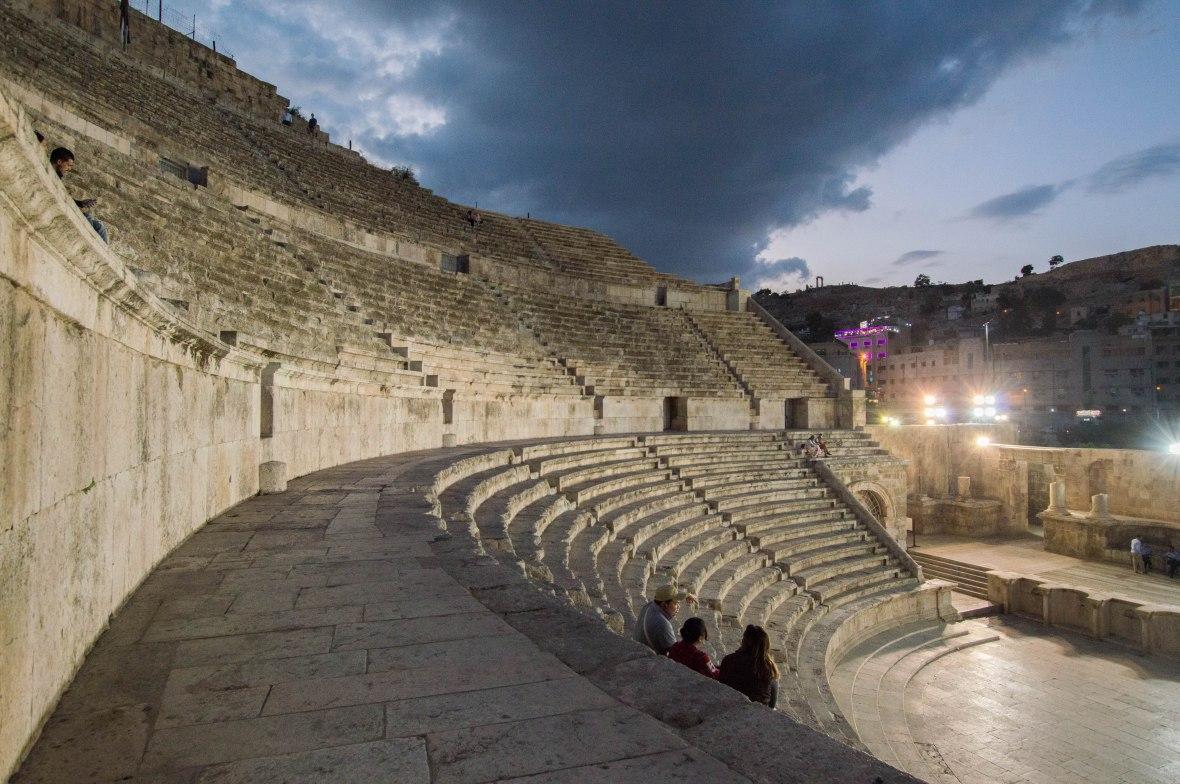 Seating, Roman Amphitheatre, Amman, Jordan