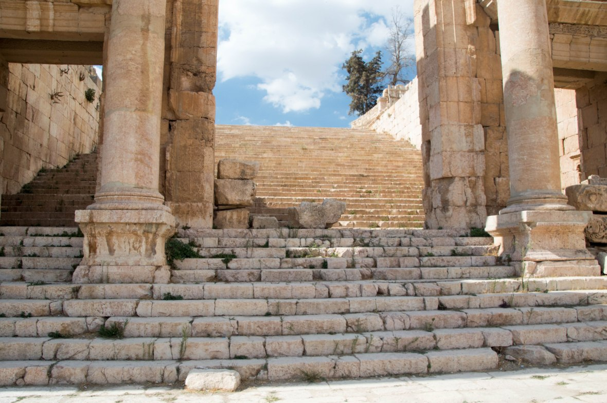 Stairs To The Temple of Artemis, Jerash, Jordan