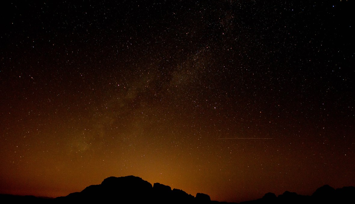 Stars In The Night Sky, Wadi Rum Desert, Jordan