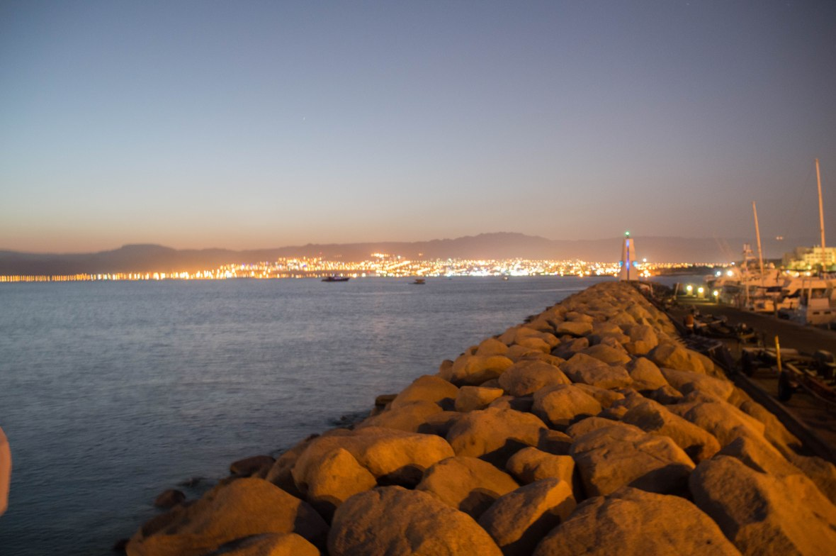 View of Israel From Aqaba Marina, Jordan