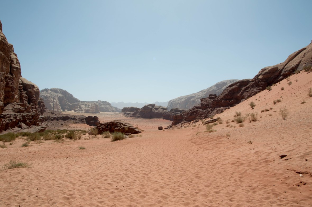 Walking Through The Desert, Wadi Rum, Jordan
