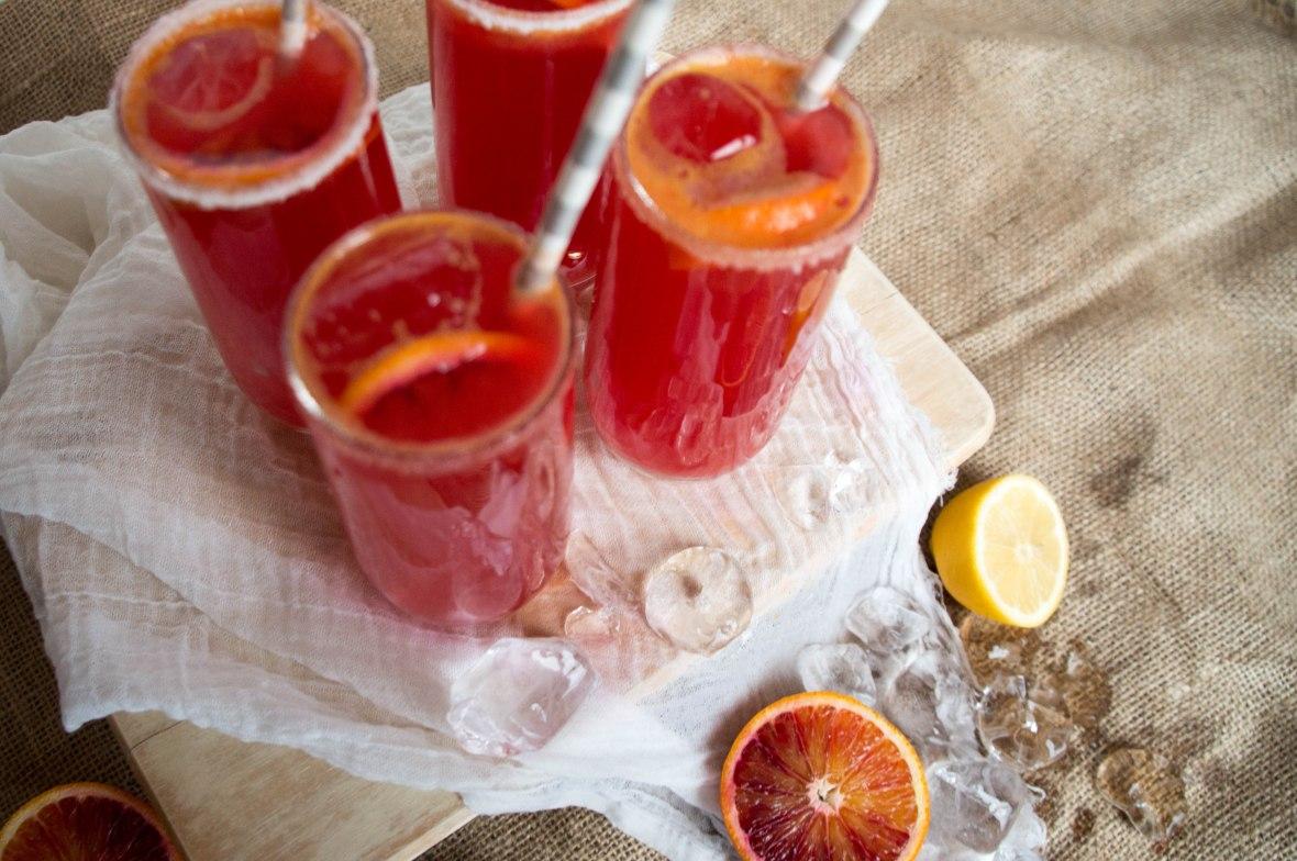 Blood Orange Lemonade - Kay's Kitchen Blog