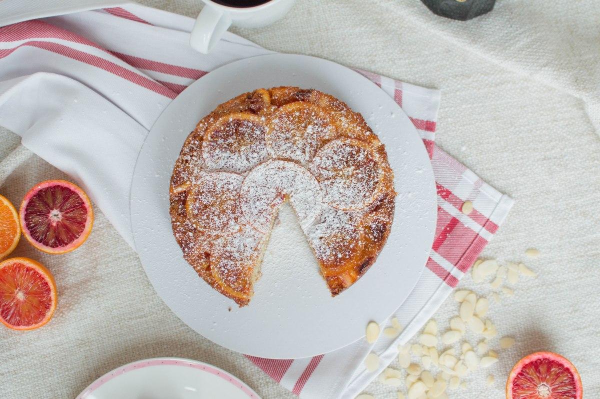 Almond, Tonka Bean And Blood Orange Upside Down Cake – Kay\'s Kitchen
