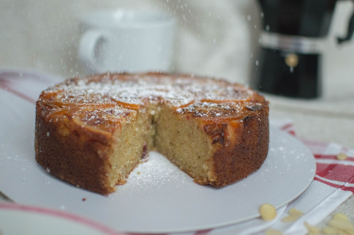 Icing Sugar On Blood Orange Upside Down Cake - Kay's Kitchen