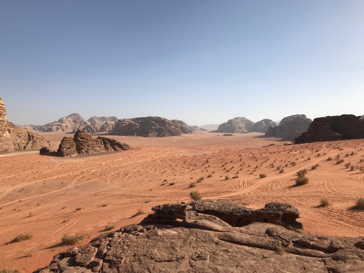 Looking Out Over The Desert, Wadi Rum, Jordan