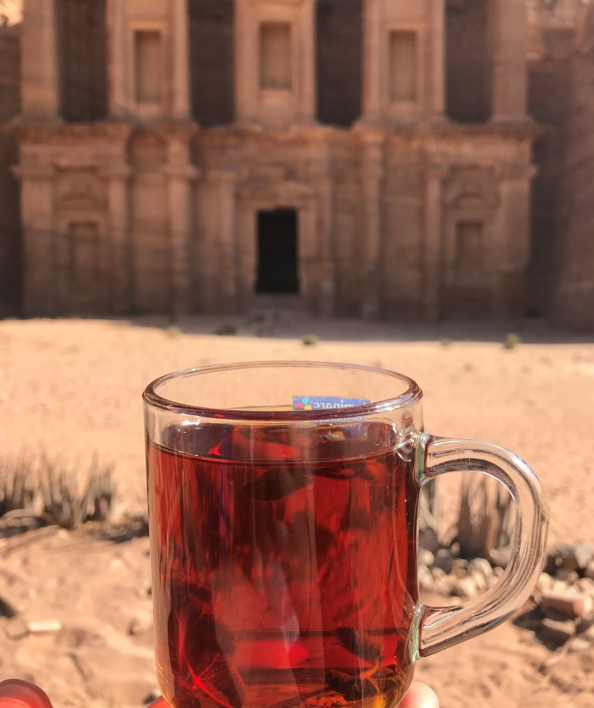 Sage Tea By The Monastary, Petra, Jordan