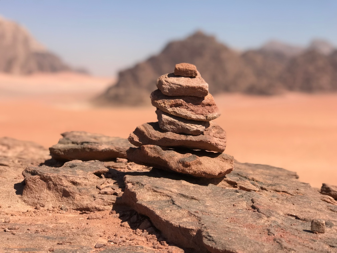 Stones In The Desert, Wadi Rum, Jordan