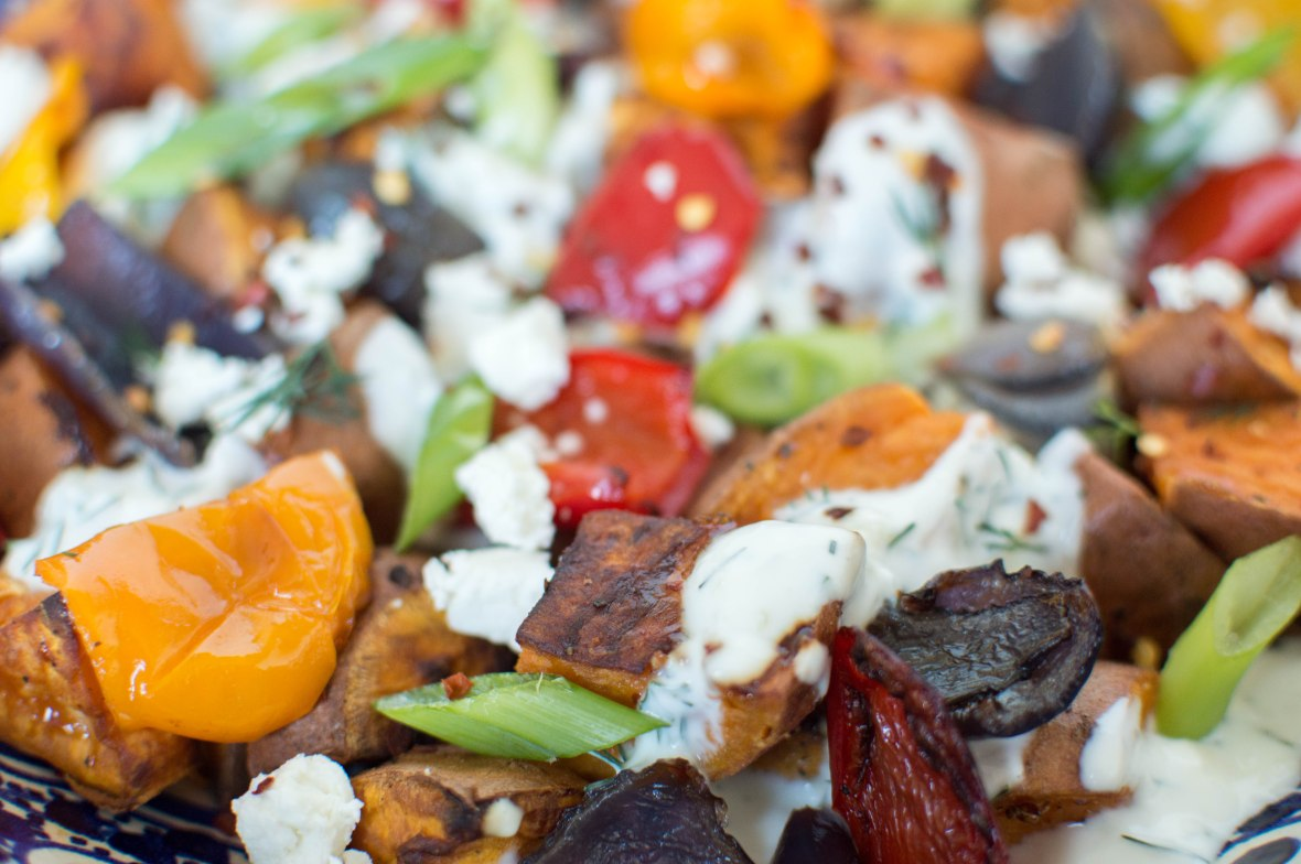 Sweet Potato Salad With Garlic And Herb Yoghurt - Kay's Kitchen