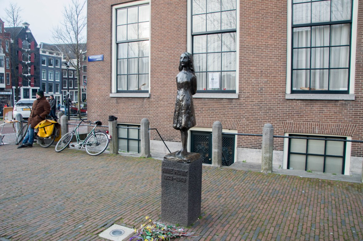Anne Frank Tribute Statue, Amsterdam, Netherlands