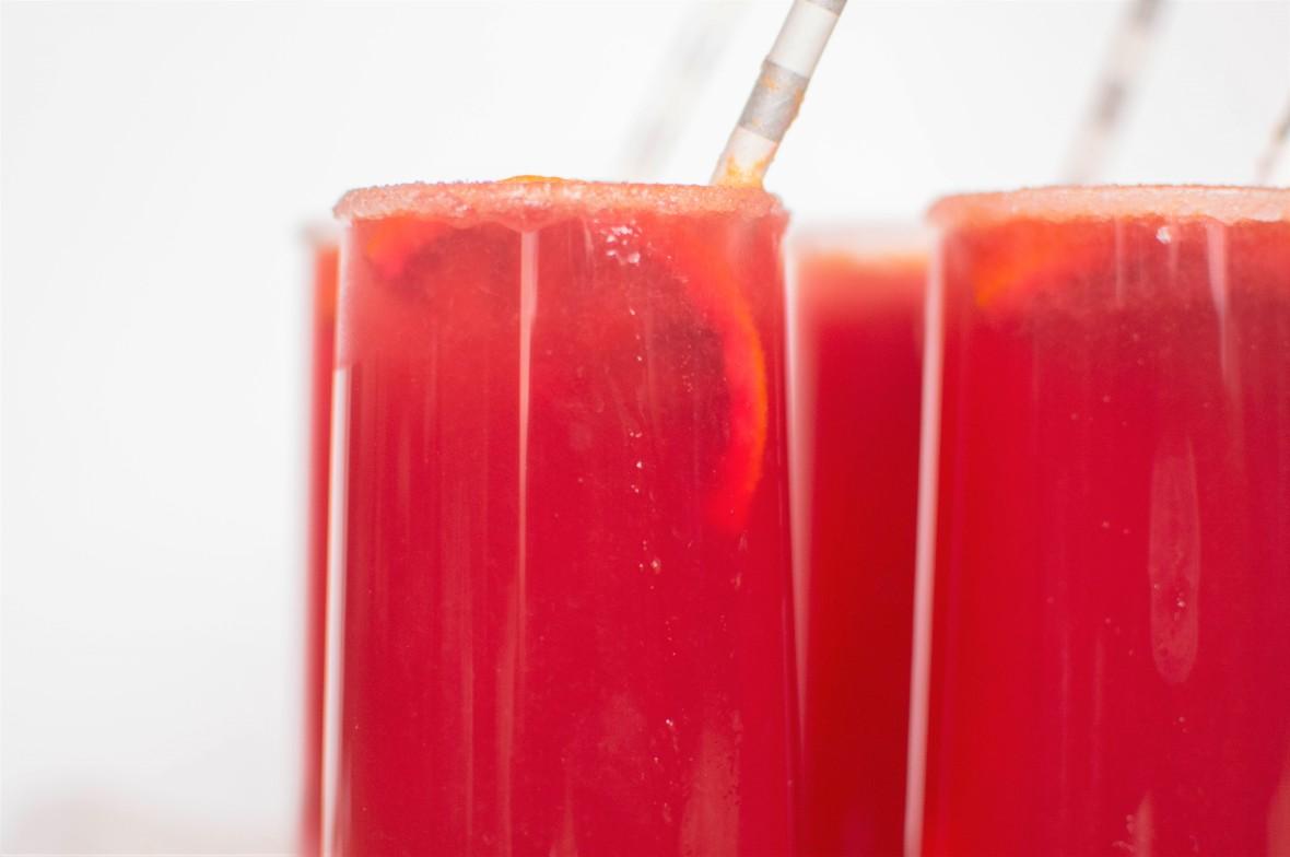 Blood Orange Lemonade Close Up - Kay's Kitchen