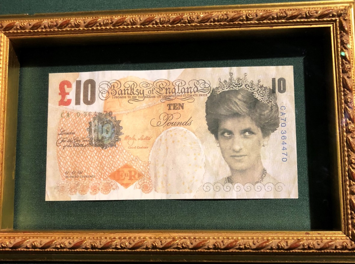 Di Faced Tenner, Banksy Exhibition, Amsterdam, Netherlands