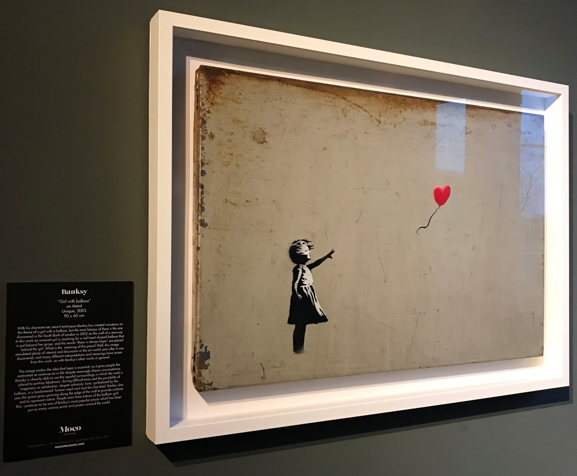 Girl With Balloon, Banksy Exhibition, Amsterdam, Netherlands