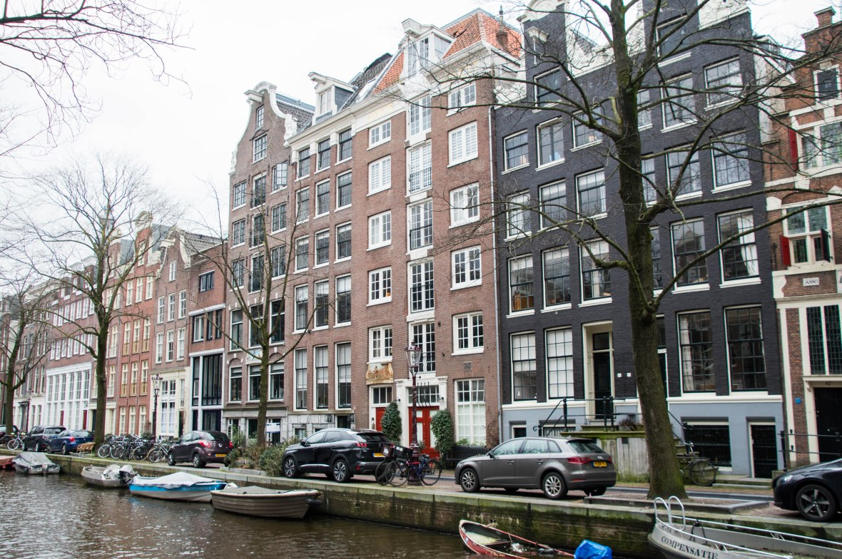 Houses By The Canal, Amsterdam, Netherlands