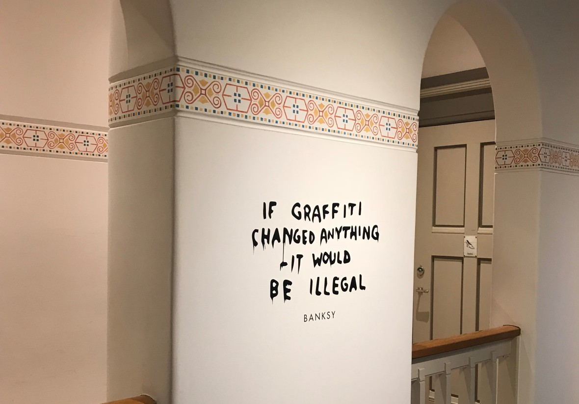 If Graffiti Changed Anything It Would Be Illegal, Banksy Exhibition, Amsterdam, Netherlands