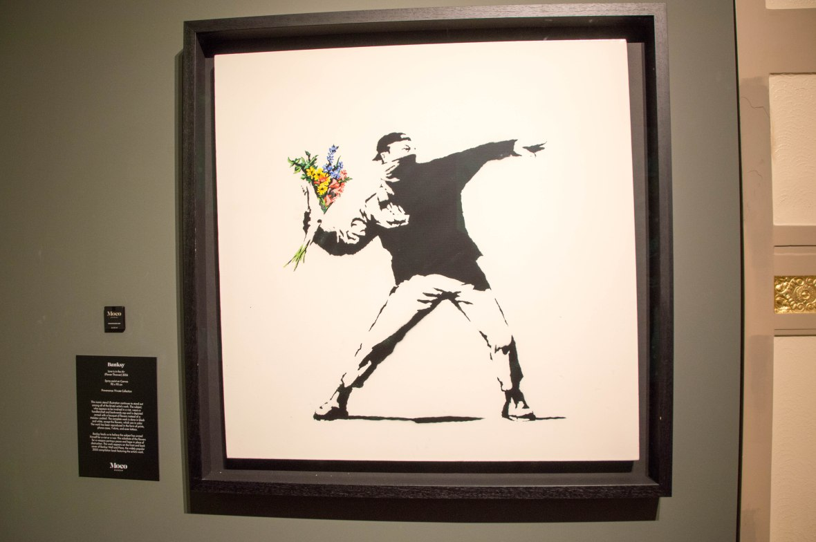 Love Is In The Air, Banksy Exhibition, Amsterdam, Netherlands