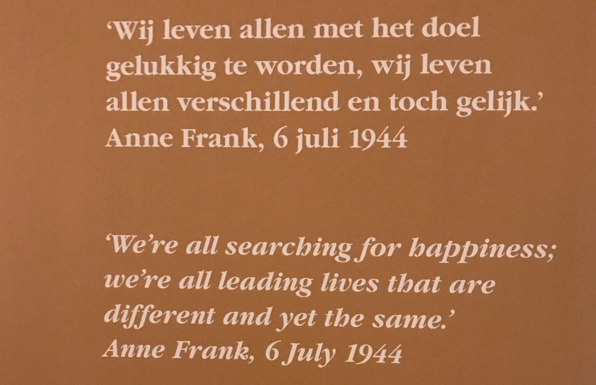 Quote At Anne Frank House, Amsterdam, Netherlands