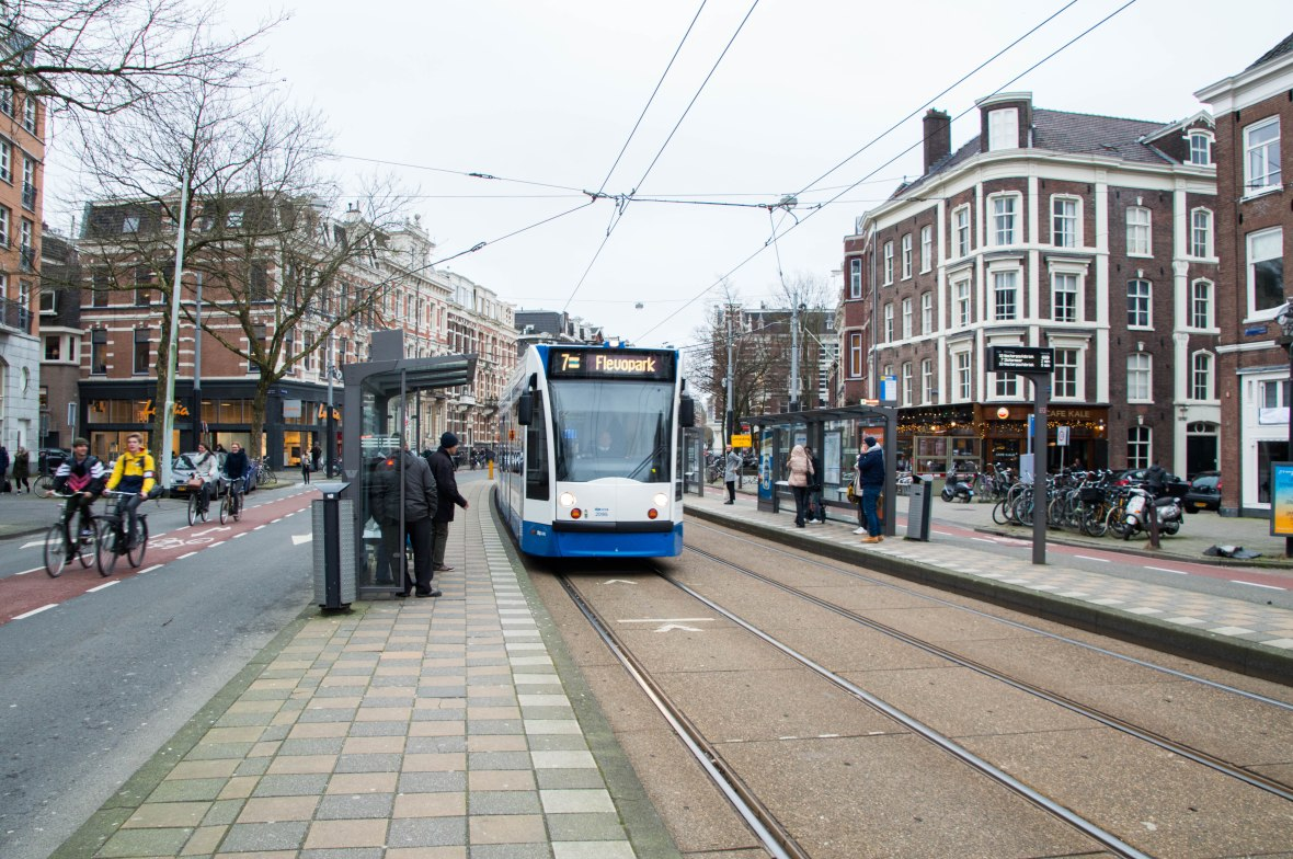 Trams, Amsterdam, Netherlands