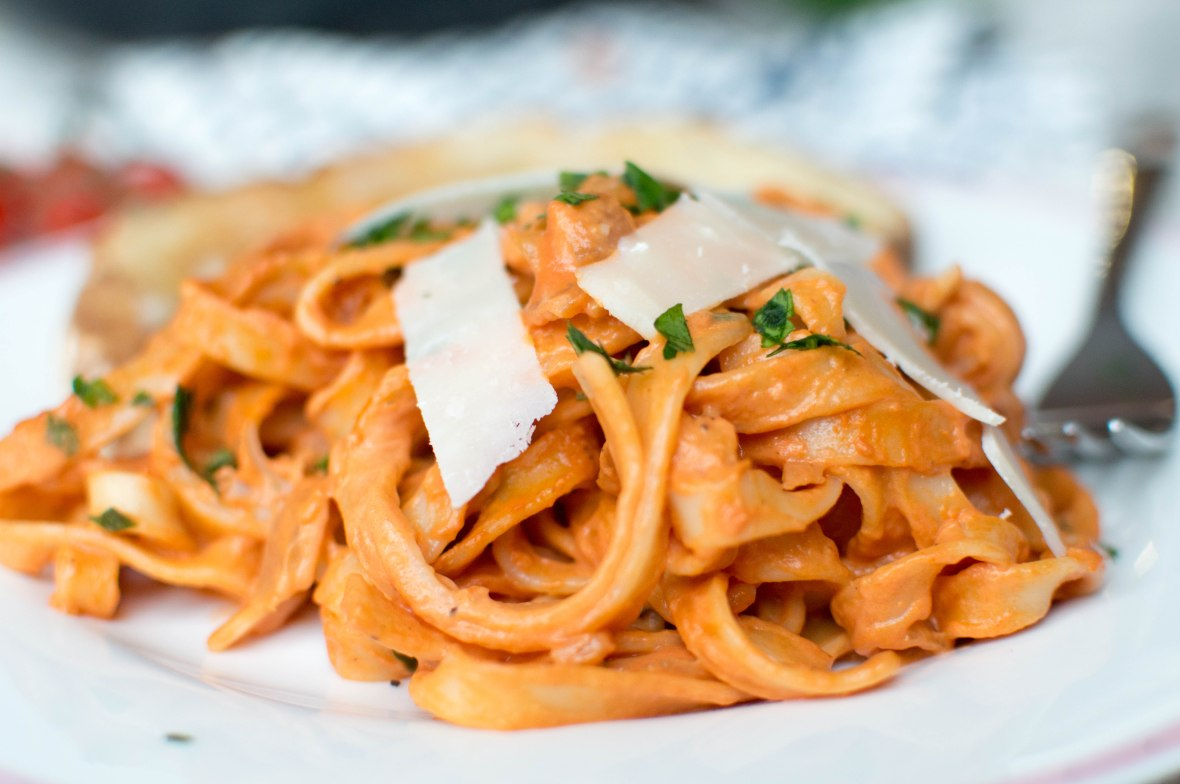 Creamy Tomato Pasta With Fresh Herbs And Parmesan - Kay's Kitchen