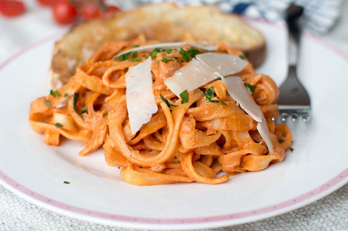 Creamy Tomato Tagliatelle - Kay's Kitchen