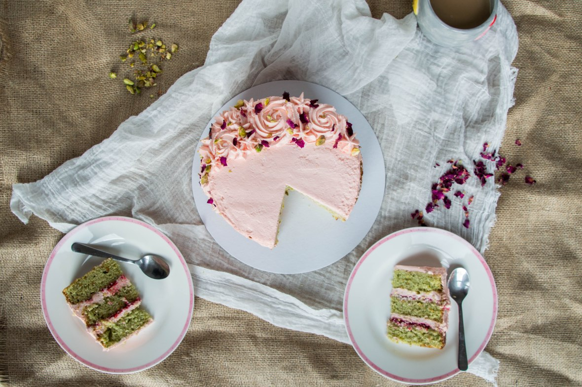 Pistachio, Rose And Cardamom Cake - Kay's Kitchen