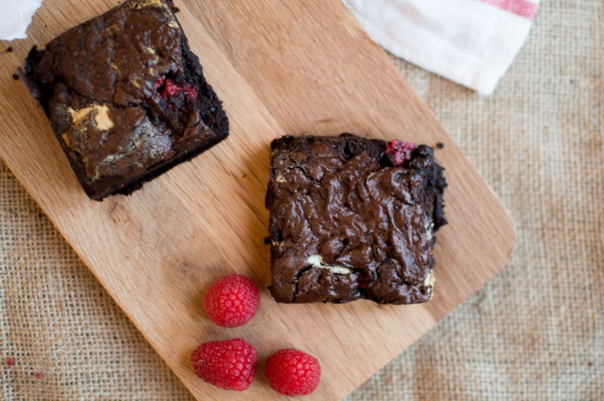 Raspberry And White Chocolate Brownies - Kay's Kitchen
