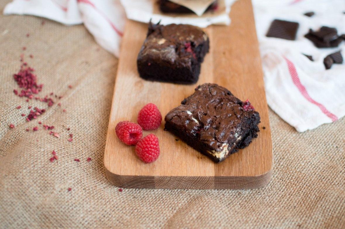 Raspberry & White Chocolate Brownies - Kay's Kitchen
