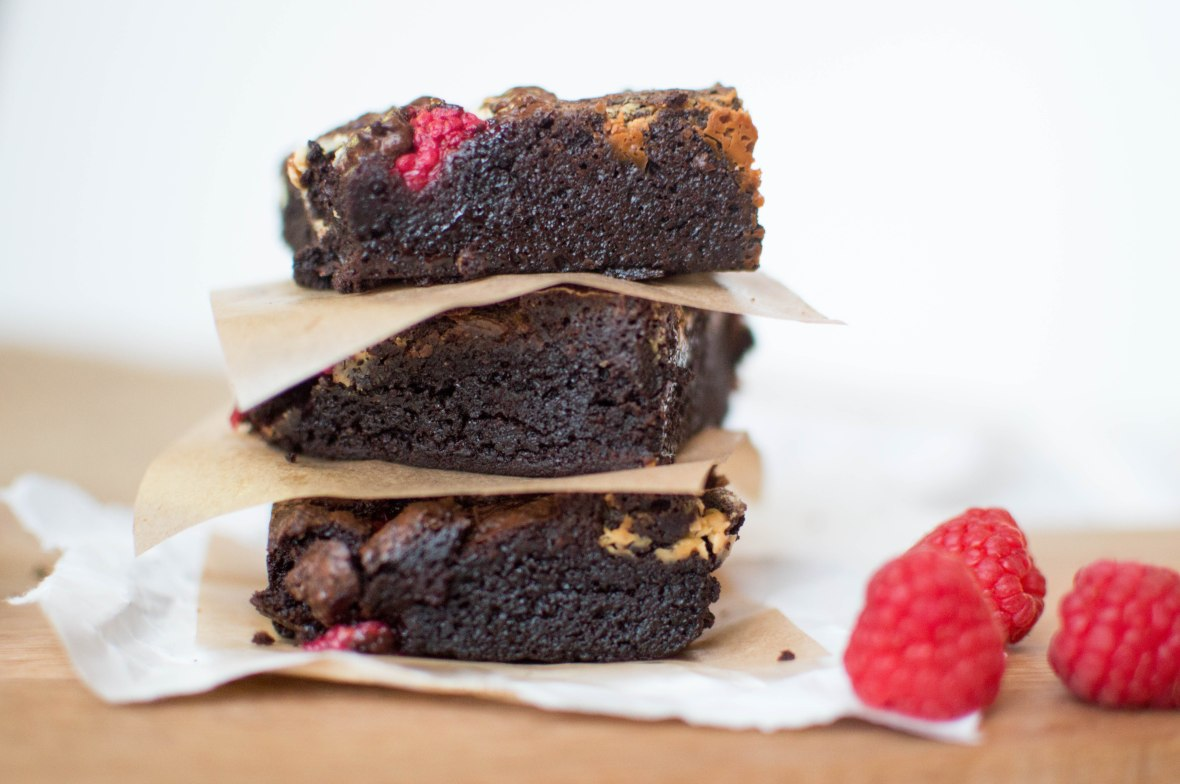 Stack Of White Chocolate And Raspberry Brownies - Kay's Kitchen