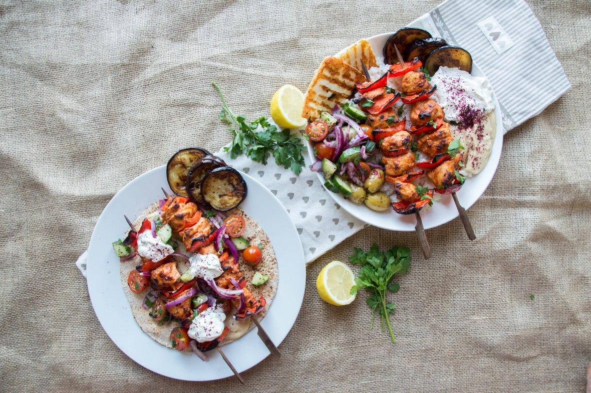 Chicken Shish Kebab Wrap and Rice Bowl - Kay's Kitchen