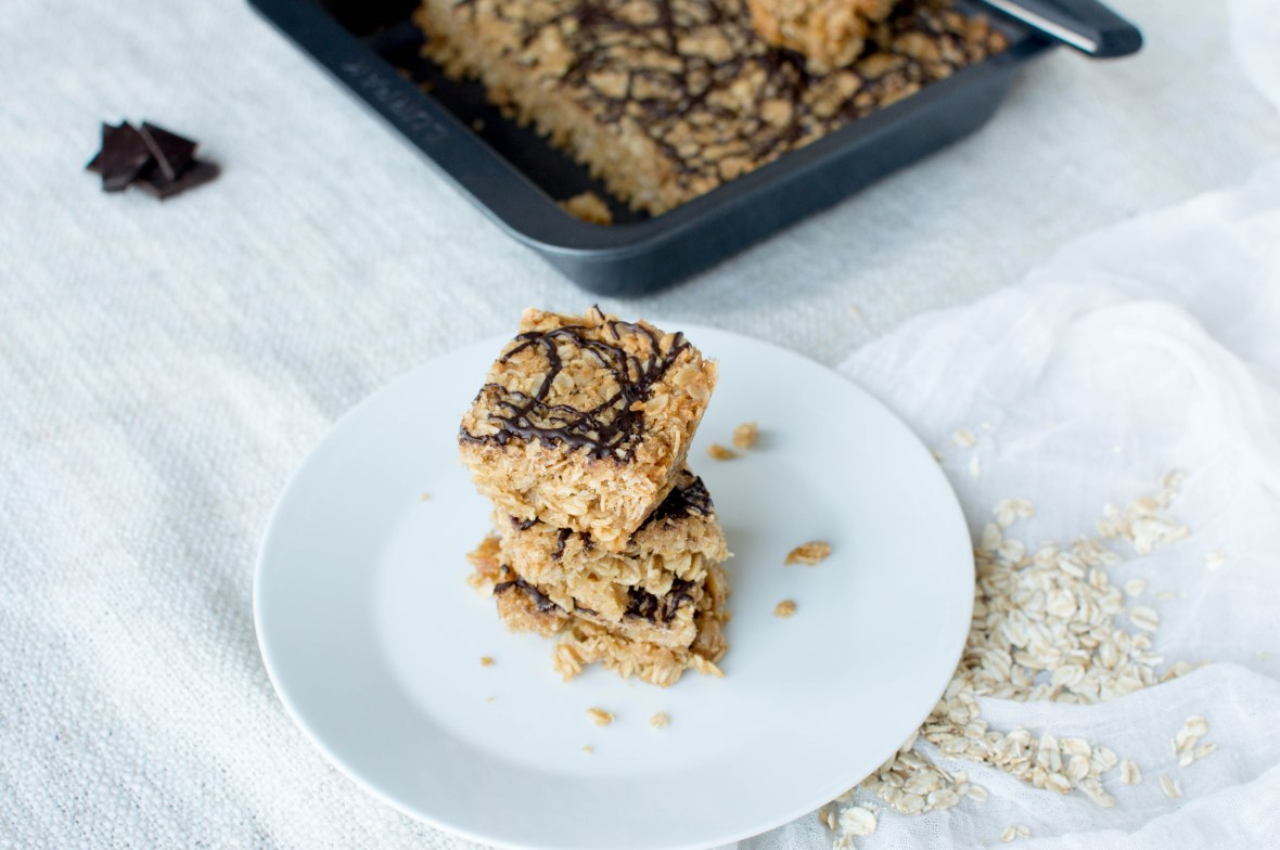 Coconut And Dark Chocolate Flapjacks - Kay's Kitchen