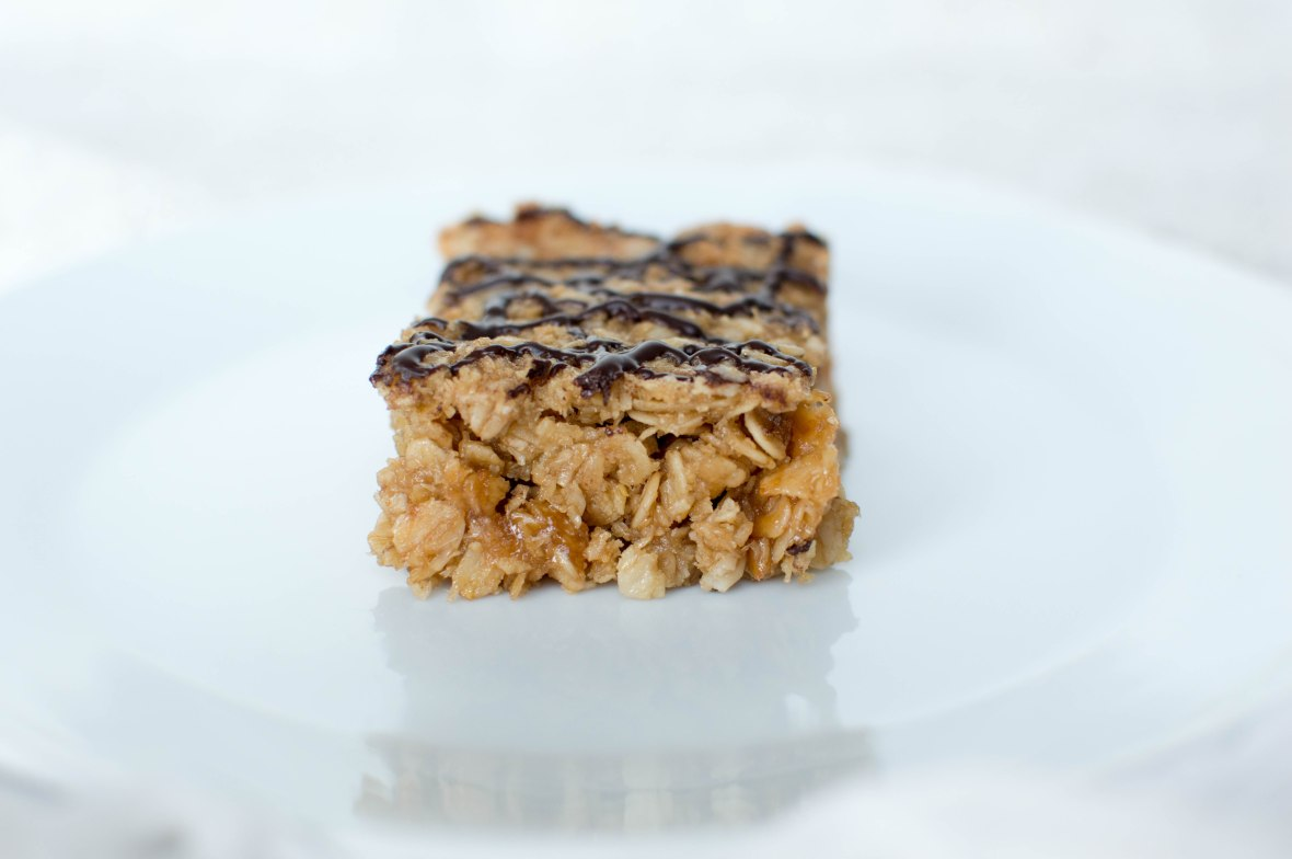 Coconut & Dark Chocolate Flapjack - Kay's Kitchen
