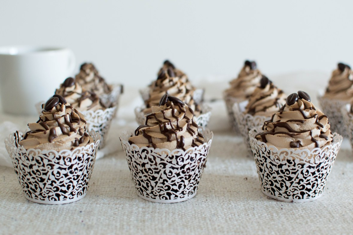 Mocha Cupcakes With Chocolate Drizzle - Kay's Kitchen