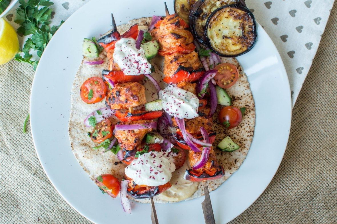 Recipe For Chicken Shish Wrap - Kay's Kitchen